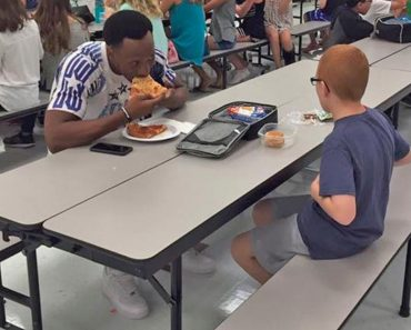 travis rudolph eats with autistic kid